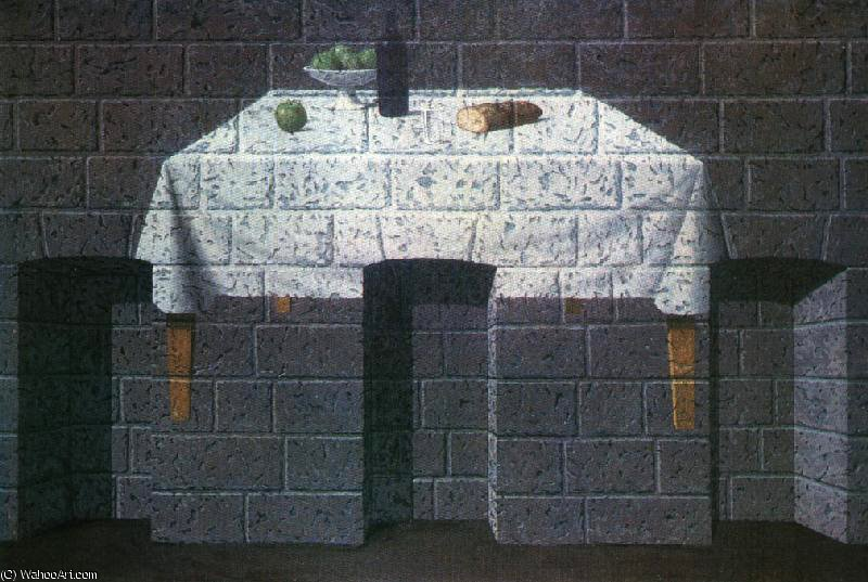 The pleasant truth,1966, private by Rene Magritte (1898-1967, Belgium)