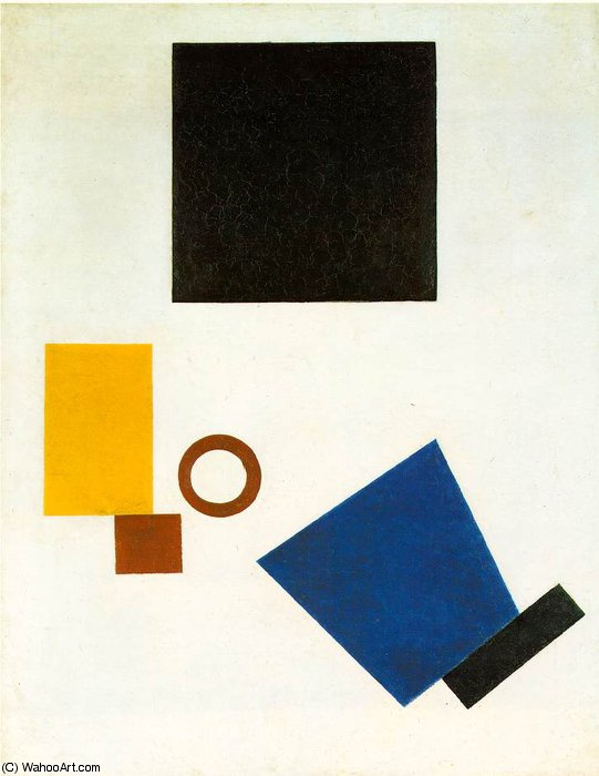 Suprematism - Self-Portrait in Two Dimensions, 1915 by Kazimir Severinovich Malevich (1879-1935, Ukraine) | Museum Art Reproductions | ArtsDot.com