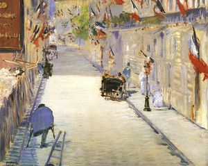 Edouard Manet - Rue Mosnier with Flags, J..