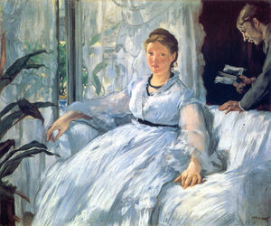 Edouard Manet - Reading Mme Manet and Leon