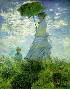 Claude Monet - The Stroll, Camille Monet and Her Son Jean (Woman with