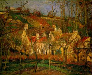 Camille Pissarro - Red Roofs, Musee d'Orsay,..