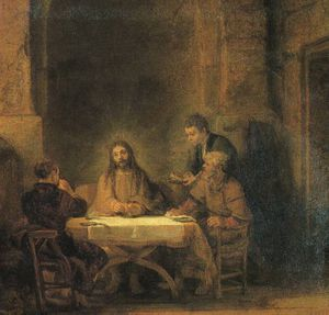 Rembrandt Van Rijn - Supper at emmaus louvre