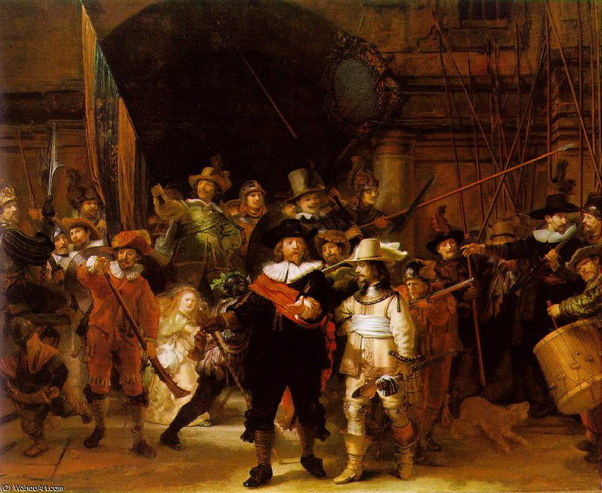 Buy Museum Art Reproductions : The nightwatch, 1642 by Rembrandt Van Rijn (1606-1669, Netherlands) | ArtsDot.com