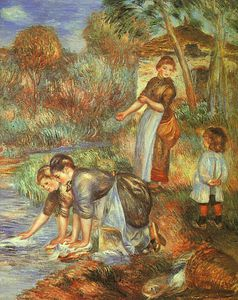 Pierre-Auguste Renoir - The Washer-Women, oil on canvas, Baltimore Muse