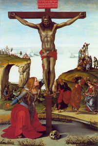 Luca Signorelli - The Crucifixion with St. Mary Magdalen, ca