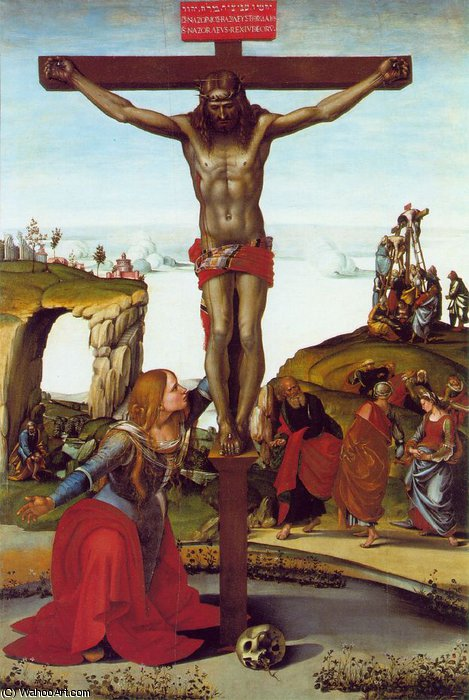 The Crucifixion with St. Mary Magdalen, ca, 1500 by Luca Signorelli (1450-1523, Italy)