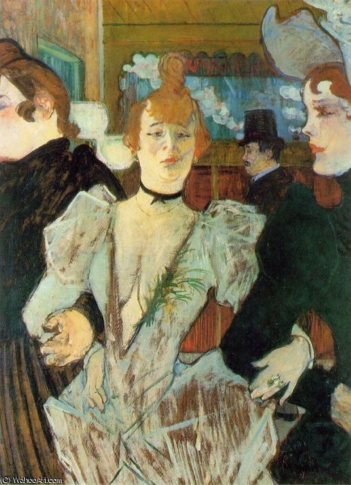 Goulue two women by Henri De Toulouse Lautrec (1864-1901, France)