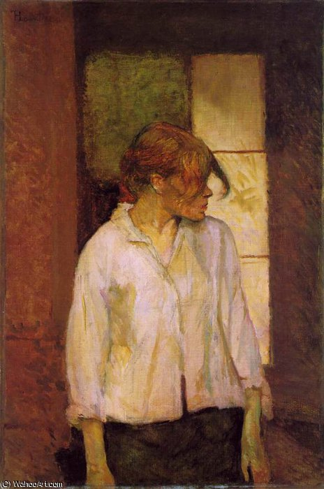 'A montrouge' - Rosa la Rouge, - (72.), 1887 by Henri De Toulouse Lautrec (1864-1901, France)