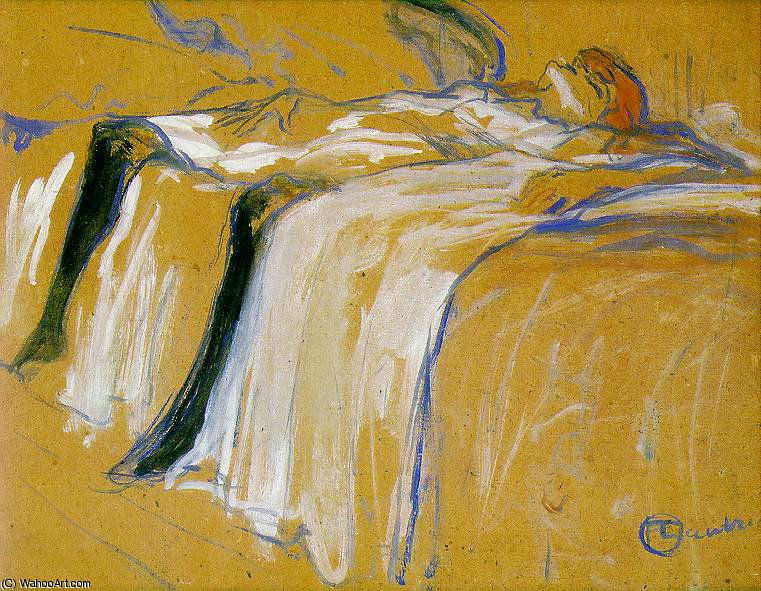Alone, Musee D'Orsay, Paris, 1896 by Henri De Toulouse Lautrec (1864-1901, France)