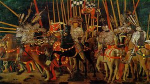Paolo Uccello - The battle of san romano - the counter-attack by mich