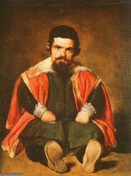 Don Sebastián de Morra, oil on canvas, Museo, 1645 by Diego Velazquez (1599-1660, Spain)