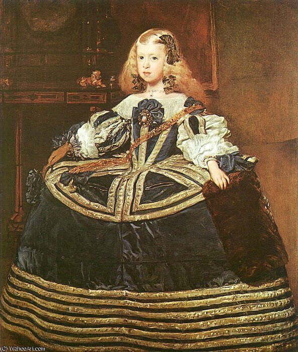 Order Oil Painting : The Infanta Margarita, oil on canvas, Art Hi, 1659 by Diego Velazquez (1599-1660, Spain) | ArtsDot.com