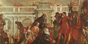 Paolo Veronese - The family of darius before alexander. ng london
