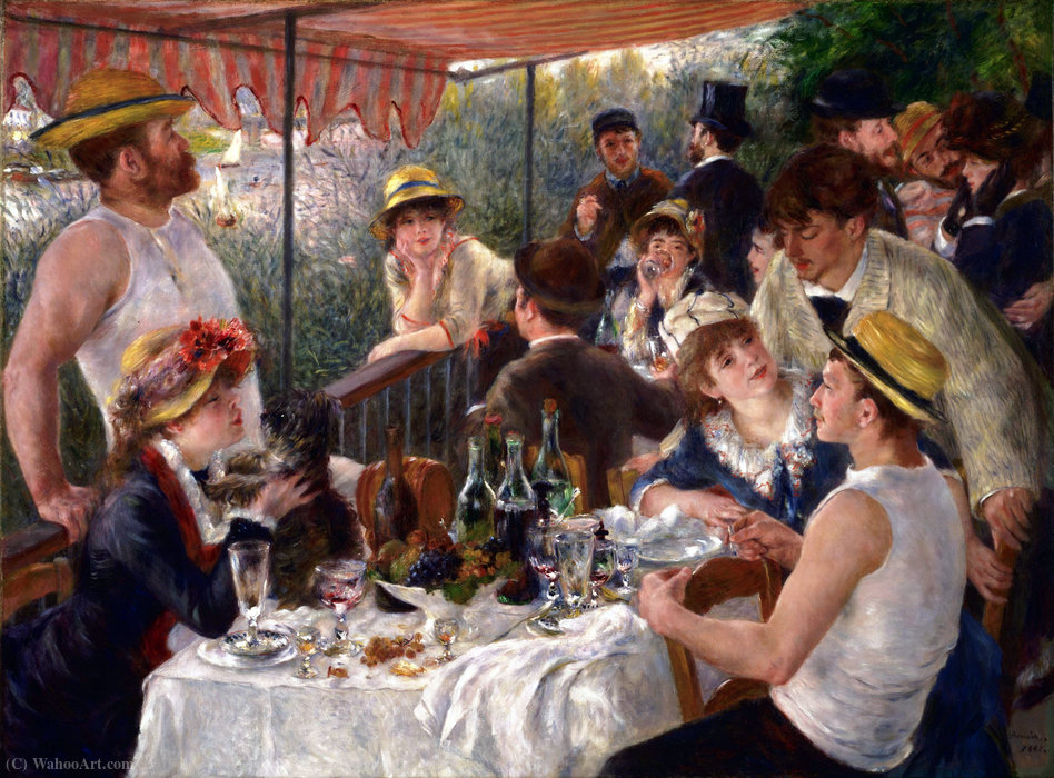 Luncheon of the Boating Party by Pierre-Auguste Renoir (1841-1919, France) | Art Reproduction | ArtsDot.com