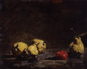 Théodule Augustin Ribot - Still Life with Pears and..