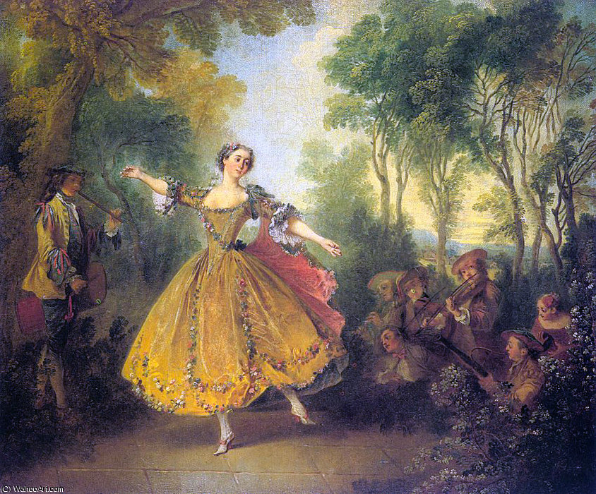 The dancer camargo by Nicolas Lancret (1690-1743, France)