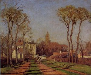 Camille Pissarro - The Entrance to the Village of Voisins