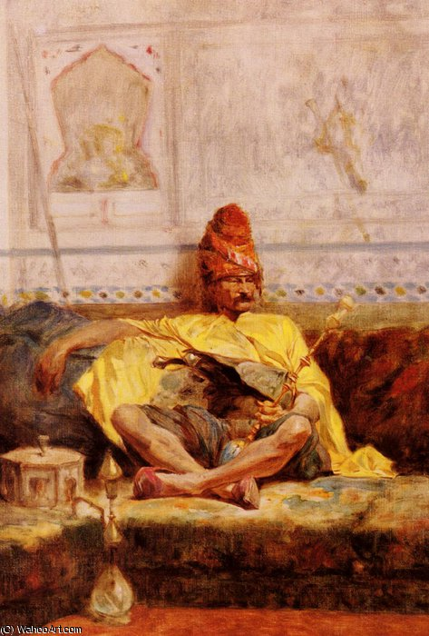 Seated Bashi-Bazouk by Charles Bargue (1826-1883, France)