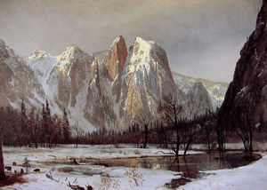 Albert Bierstadt - Cathedral rock, yosemite valley, california