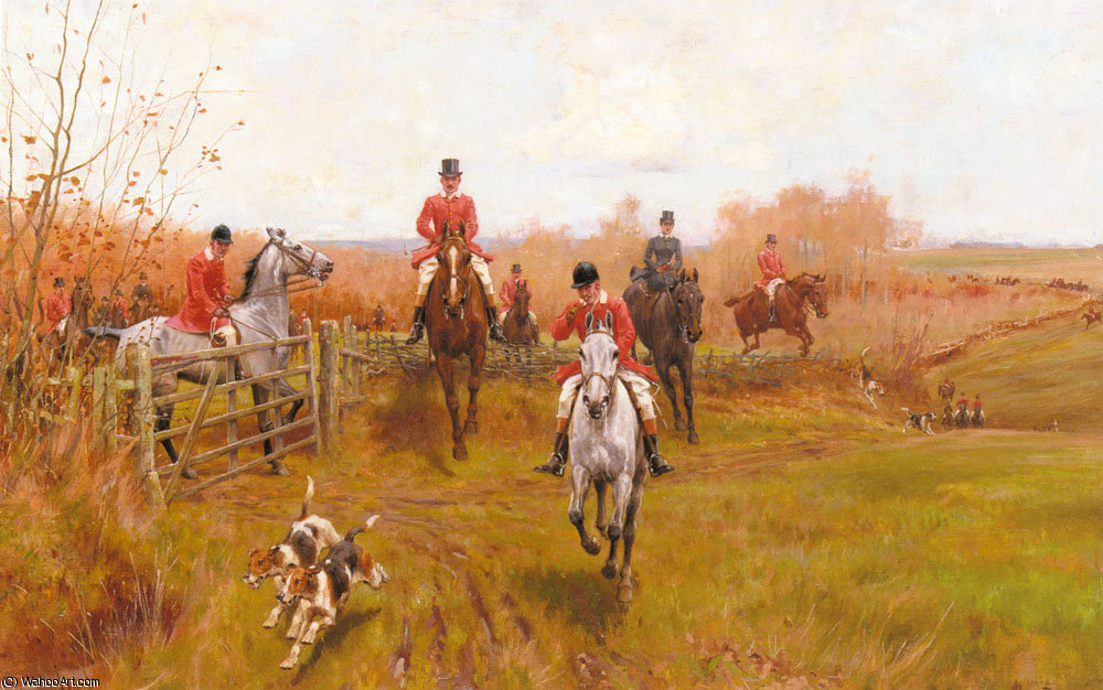 Over the fence by Thomas Blinks (1860-1912, United Kingdom)