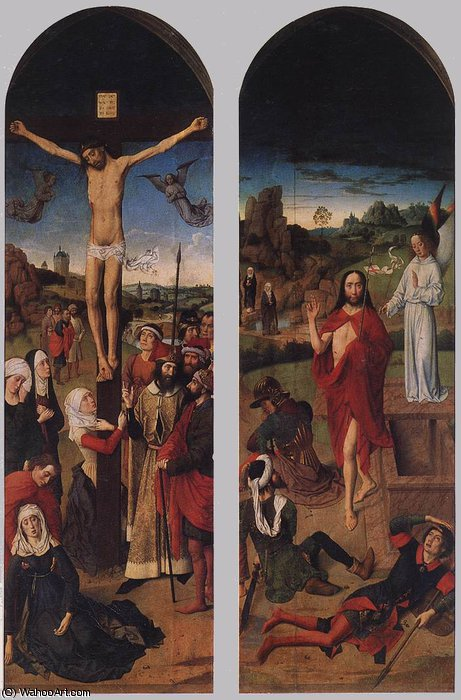 Passion Altarpiece (side wings) by Dieric Bouts (1415-1475)