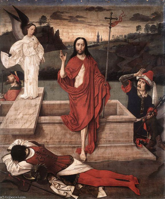 Resurrection by Dieric Bouts (1415-1475, Netherlands)