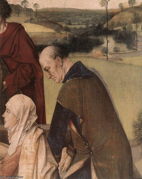 The entombment (detail) by Dieric Bouts (1415-1475, Netherlands)