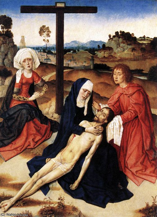 The Lamentation of Christ by Dieric Bouts (1415-1475, Netherlands)