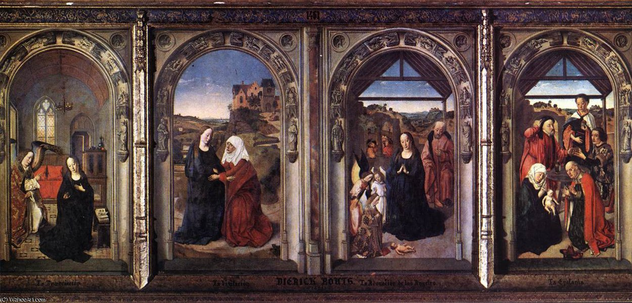 Triptych of the Virgiin by Dieric Bouts (1415-1475)