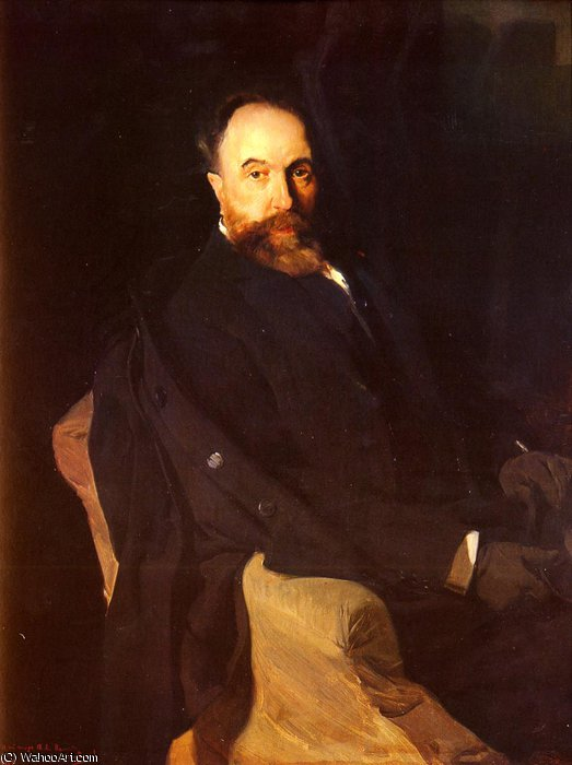 Portrait of Don Aureliano de Beruete by Joaquin Sorolla Y Bastida (1863-1923, Spain)