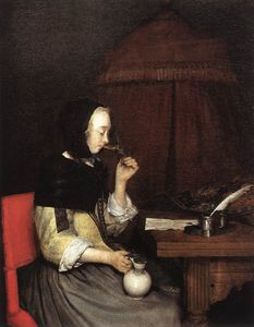 Gerard Ter Borch - A Woman drinking Wine
