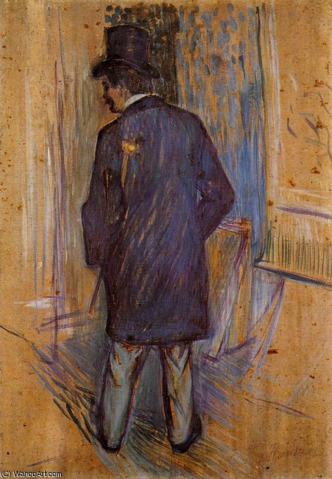 Louis Pascal from the Rear by Henri De Toulouse Lautrec (1864-1901, France)