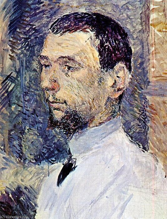 The artist francois gauzi by Henri De Toulouse Lautrec (1864-1901, France)