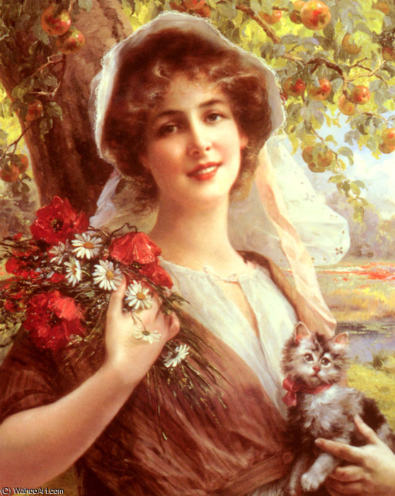 Country summer by Emile Vernon (1872-1920, France) | Painting Copy | ArtsDot.com