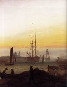 Caspar David Friedrich - Harbour