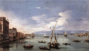 Francesco Lazzaro Guardi - The Lagoon from the Fonda..