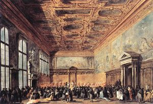Francesco Lazzaro Guardi - Audience Granted by the D..
