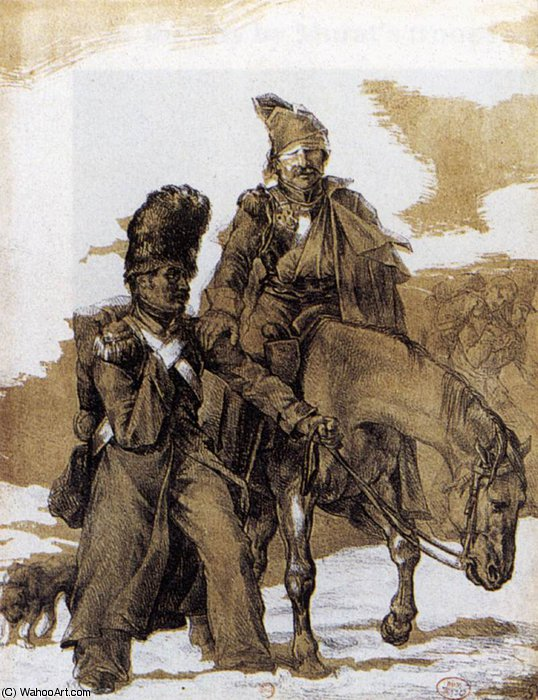 graphics - The Retreat from Russia by Jean-Louis André Théodore Géricault (1791-1824, France)