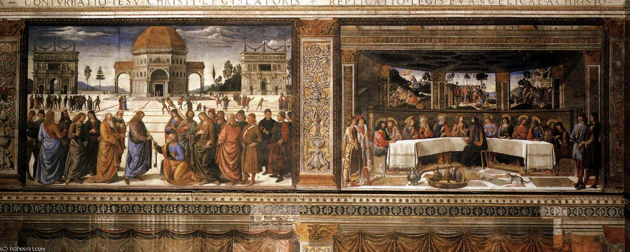 Scenes on the left wall by Cosimo Rosselli (1439-1507, Italy) | Museum Art Reproductions Cosimo Rosselli | ArtsDot.com