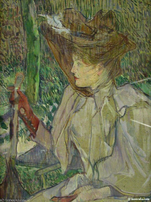 Woman with Gloves aka Honorine Platzer by Henri De Toulouse Lautrec (1864-1901, France)