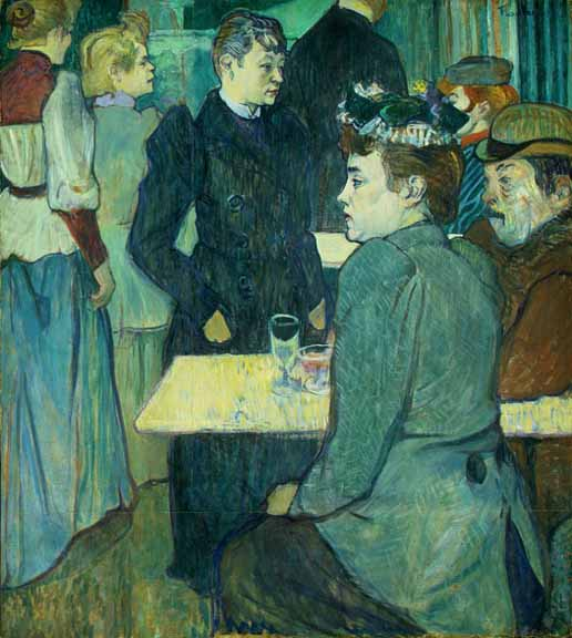 A corner in a dance hall by Henri De Toulouse Lautrec (1864-1901, France)