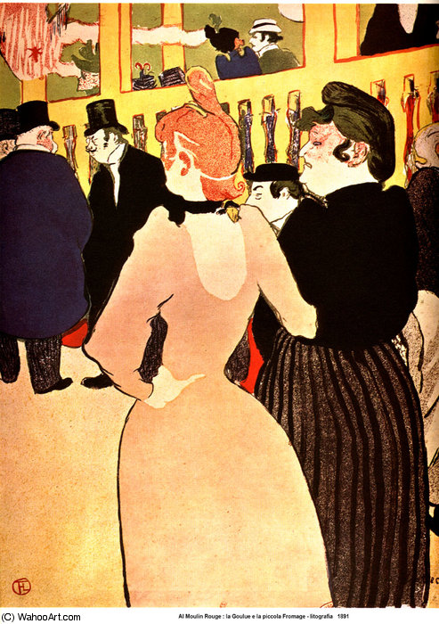 At the Moulin - Rouge, La Goulue with Her Sister by Henri De Toulouse Lautrec (1864-1901, France)