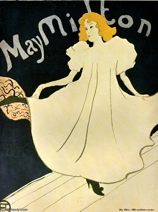 May mitton by Henri De Toulouse Lautrec (1864-1901, France)