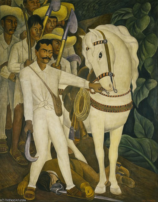 Agrarian leader zapata by Diego Rivera (1886-1957, Mexico)