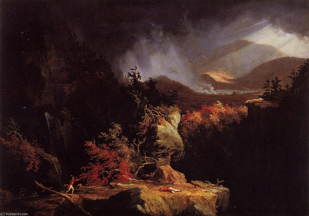 View near Ticonderoga by Thomas Cole (1801-1848, United Kingdom)