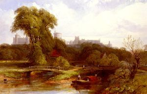 Thomas Creswick - A view of windsor castle