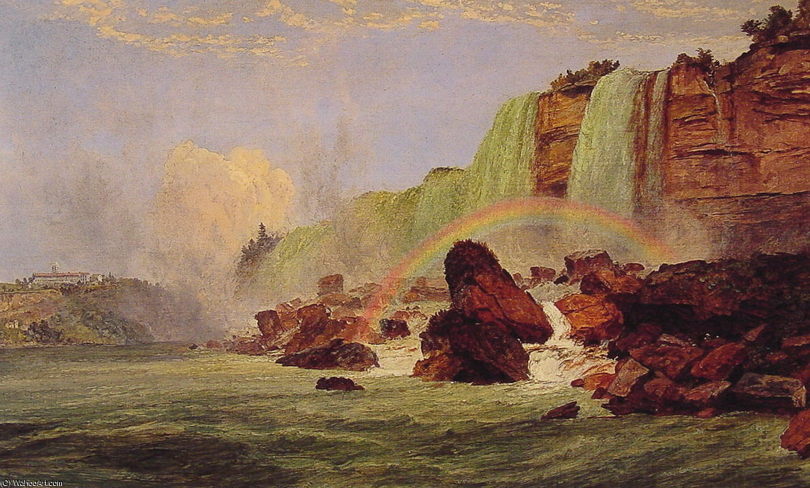 Niagara Falls with a View of Clifton House by Jasper Francis Cropsey (1823-1900, United States) | ArtsDot.com