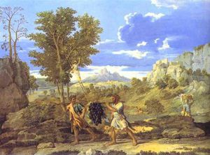 Nicolas Poussin - Autumn. The Grapes from the Promised Land