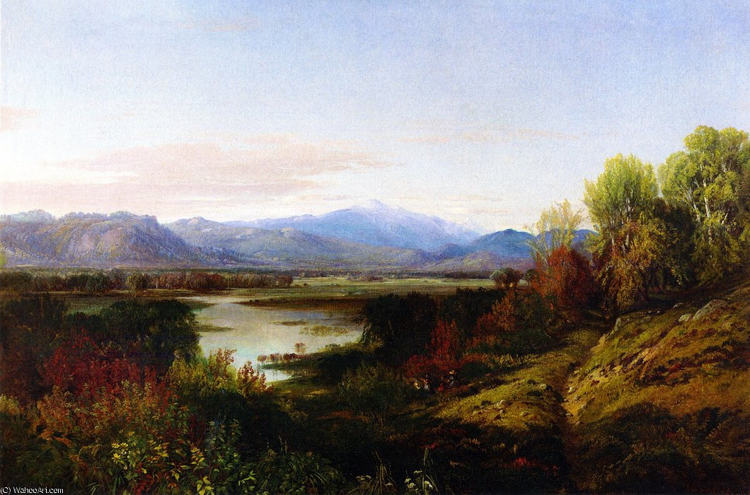 Mount Washington and the Saco River by Aaron Draper Shattuck (1832-1928, United States)